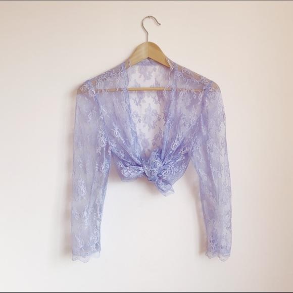 sheer purple lace cardi